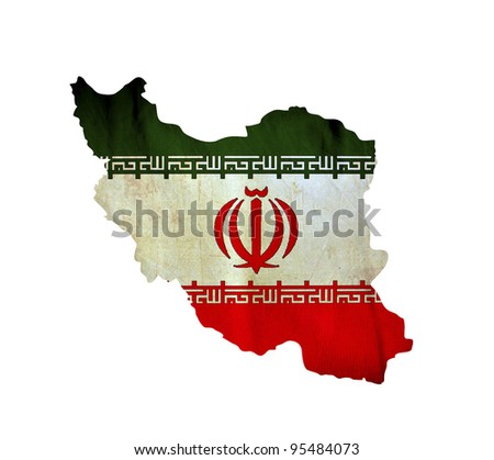 Map of Iran isolated - stock photo