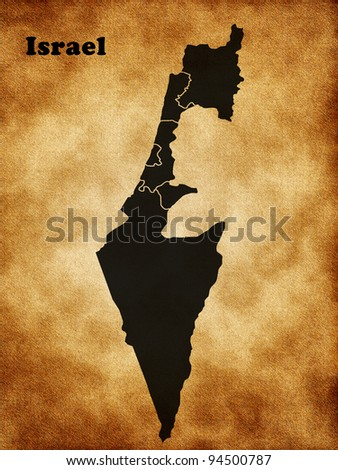 Map of Israel - stock photo