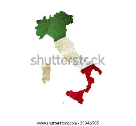 Map of Italy isolated