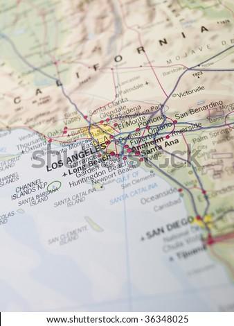 Map of Laos Angeles