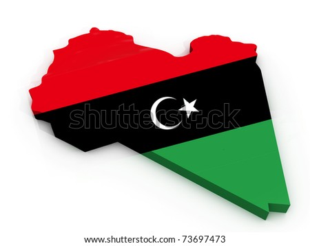 physical maps of libya. stock photo : Map of Libya as