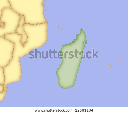map of indonesia and surrounding countries. stock photo : Map of