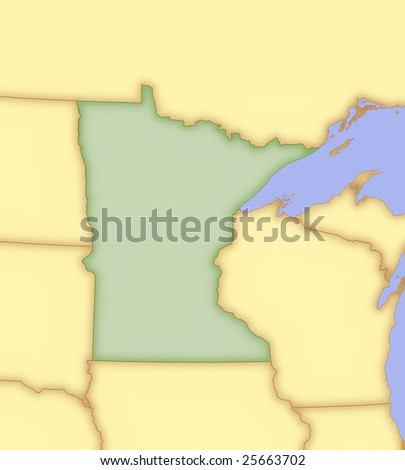 State Minnesota Map Images