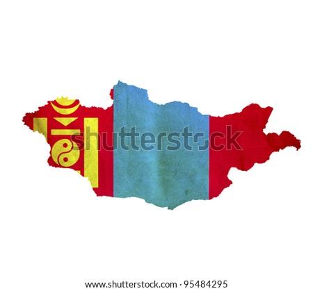 Map of Mongolia isolated