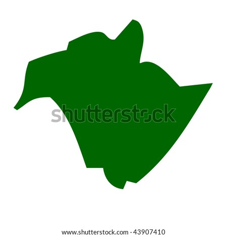 Map of New Brunswick province or territory in Canada, isolated on white background.