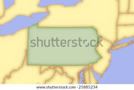 map of wyoming and surrounding states. stock photo : Map of