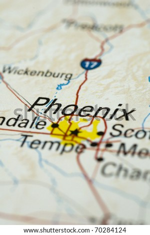 Map of Phoenix. Map is Copyright Free Off a Government Website. - stock photo