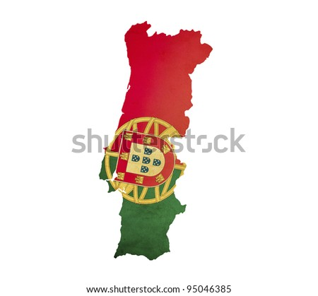 Map of Portugal isolated