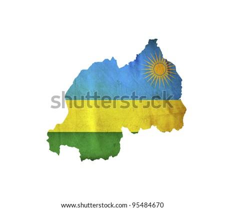 Map of Rwanda isolated