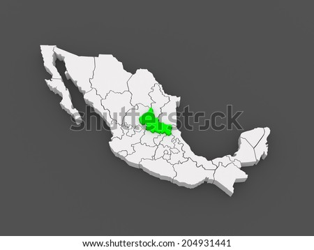Map Of San Luis Potosi Mexico 3d Ez Canvas