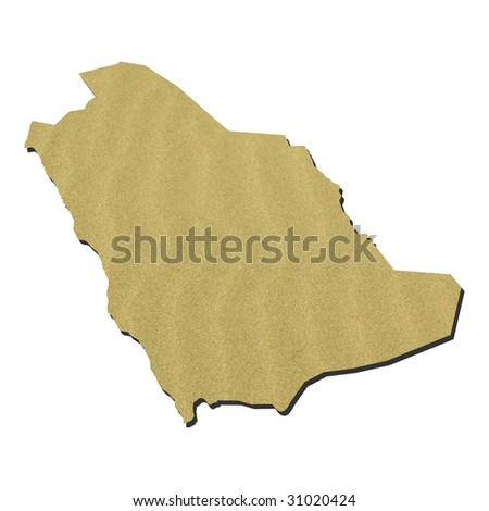 maps of saudi arabia. stock photo : Map of Saudi