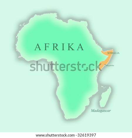 map of somalia in africa. stock photo : Map of Somalia