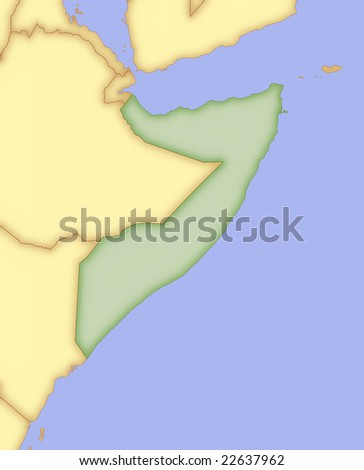 map of indonesia and surrounding countries. stock photo : Map of Somalia, with borders of surrounding countries.