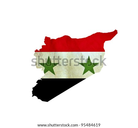 Map of Syria isolated - stock photo