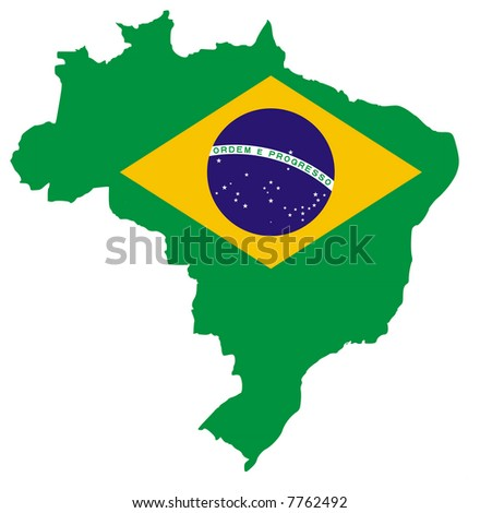 Map of the Federative Republic of Brazil