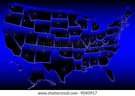 map of united states with capitals. Map of the United States
