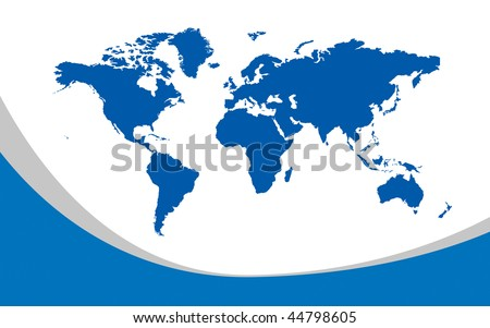 world map continents and oceans. stock photo : Map of the whole