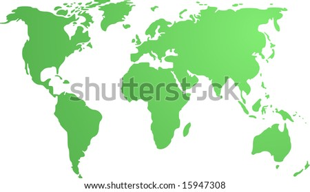 Map Of The World Outline Only