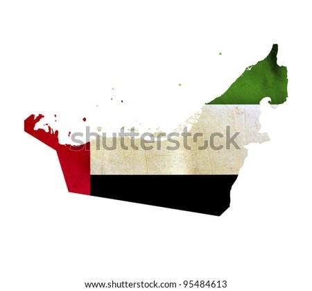 Map of United Arab Emirates isolated