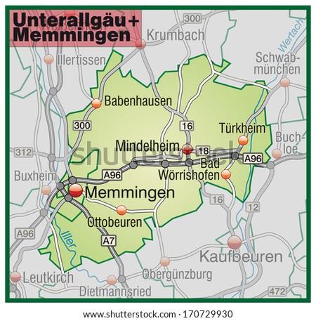 Map Of Germany Memmingen.Shutterstock Puzzlepix