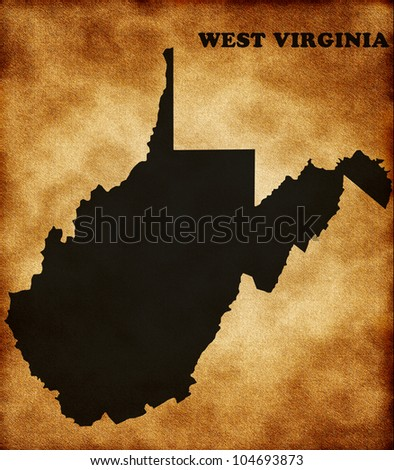 Map of west virginia state