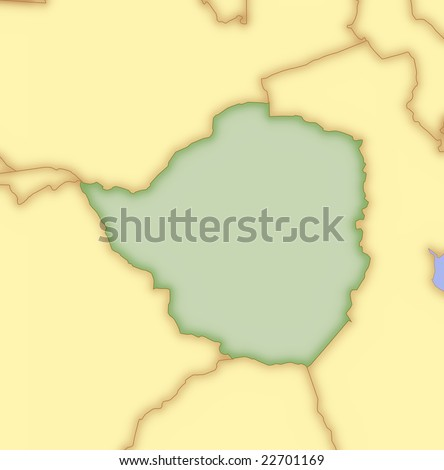 map of zimbabwe and surrounding countries