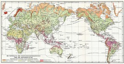 Map the distribution of vegetation on Earth. Publication of the book