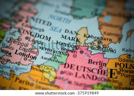 Royaltyfree Map View Of Berlin Germany On A Stock - Germany map view