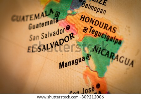 Free photos Map view of Managua, Nicaragua on a geographical map of ...