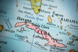 Map view of Santa Clara, Cuba on a geographical map.