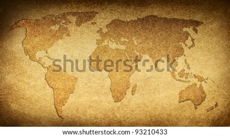 Map world - stock photo