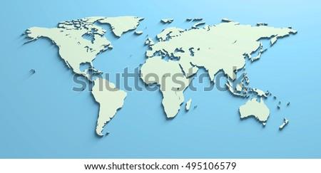 Shutterstock Mapa Mundi 3D