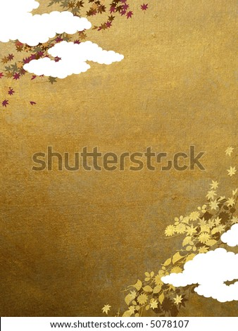 maple leaves retro background