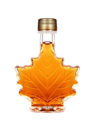 Maple Syrup Bottle Isolated On A White Background