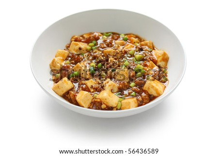 Mapo tofu , Mapo doufu , Chinese cuisine - stock photo