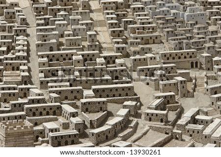 Maquette of old Jerusalem