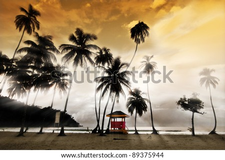 Maracas Beach - Lifeguard Hut - stock photo