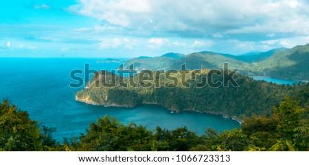 Maracas beach lookout Trinidad and Tobago