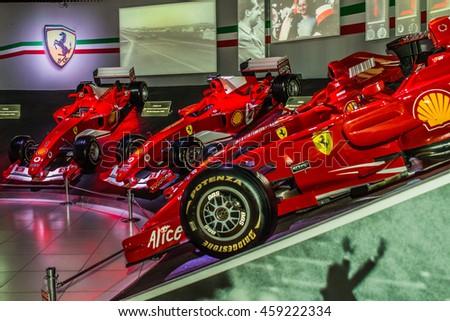 Maranello Italy April 2015 Museum Enzo Ferrari Exhibition Hall