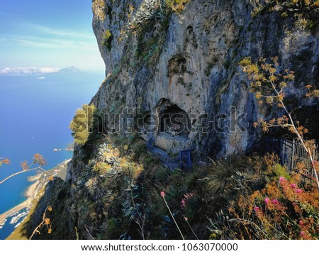 Maratea - Panoramic view of the Angel's Cave, under the Statue of Christ the Redeemer