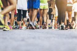 Marathon runners Crowd People Race Outdoor Sport Training