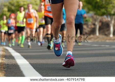 Marathon runners race #407914798
