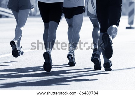 Marathon runners. Sport, competition, energy.