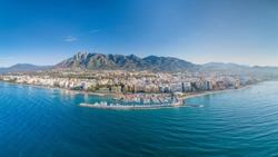 Marbella  aerial portrait panorama