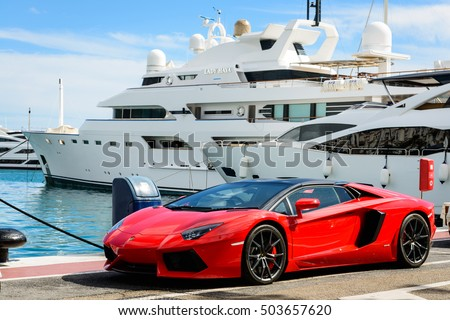 "stock photo marbella spain october front view of a red super sport car lamborghini parked alongside 503657620 - Каталог - Фотообои ""Автомобили"""