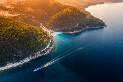 marble beach island Thassos  sea