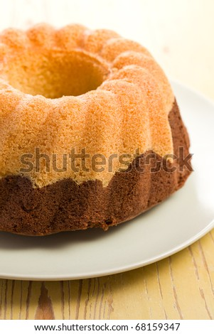 marble cake on kitchen table