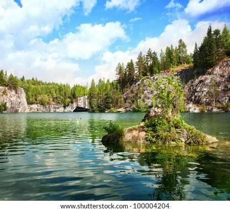 Marble canyon. A beautiful summer landscape. - stock photo