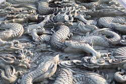 Marble carved into a beautiful dragon.