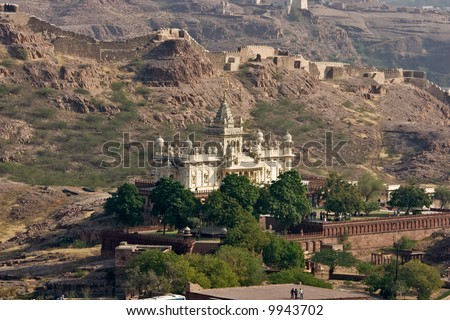 Marble Castle on the rocks, Jodhpur.